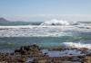 Riktigt blåsigt väder i  Playa de Las Americas på Teneriffa