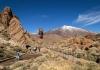 Vulkanlandskap med Teide i bakgrunden